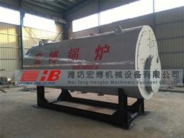 东营胜邦小区燃气锅炉制作安装现场
